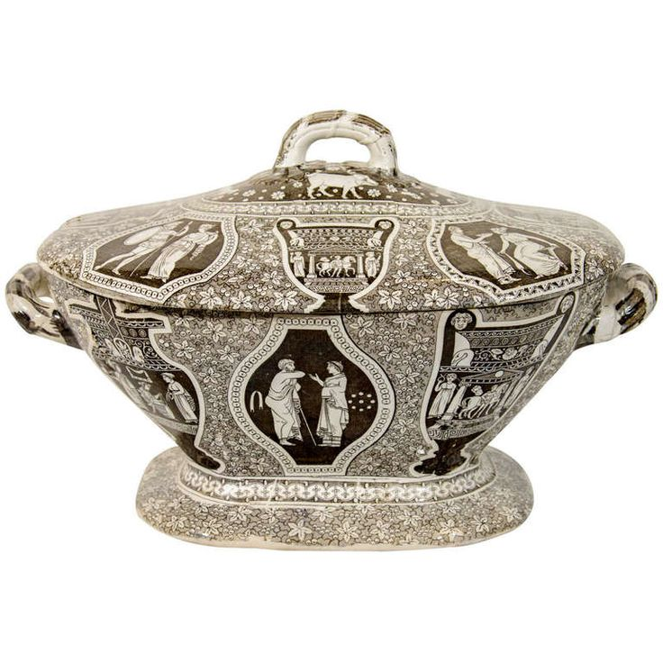 "A Herculaneum Neoclassical ""Greek"" Pattern Soup Tureen 