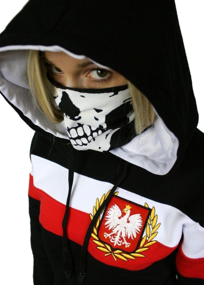 Motyw patriotyczny na bluzie damskiej 'Chorągiew' ---> Streetwear shop: odzież uliczna, kibicowska i patriotyczna / Przepnij Pina!