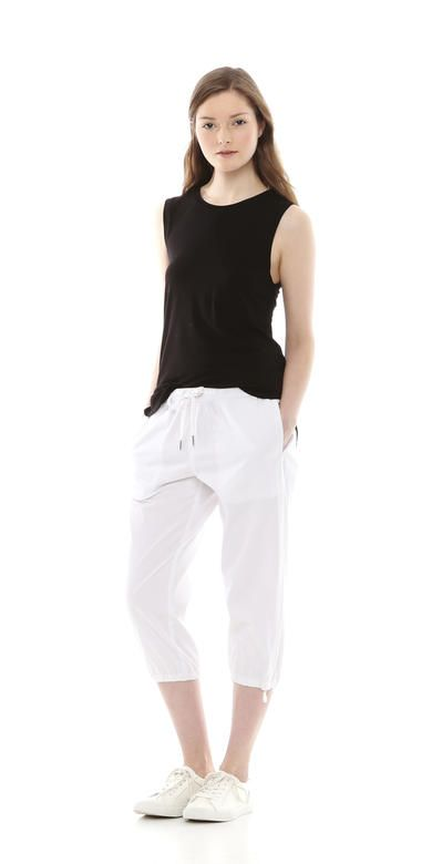 Twill Cropped Active Pant from Joe Fresh.  Only $15.