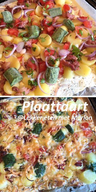 Plaattaart, een heerlijke combinatie van pizza, hartige taart en flammkuchen