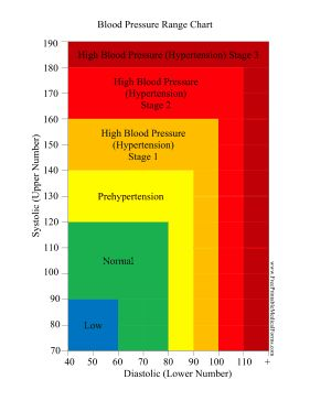 Colorful and informative, this printable blood pressure chart shows patients low, normal, prehypertension and hypertension levels in a variety of colors. Free to download and print