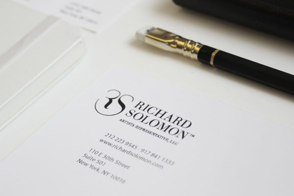 Richard Solomon Artists Rep. Corporate Identity by Ana Gomez, via Behance