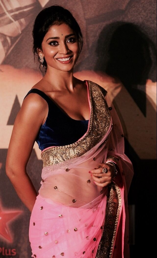 2553 best authentic saree images on pinterest india fashion shriya saran in hot pink saree with velvet blouse altavistaventures Image collections