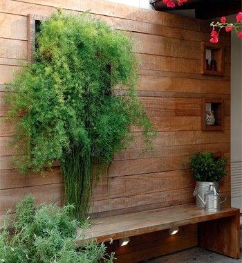 Paredes sutilmente verdes - Casa e Jardim   Jardim vertical