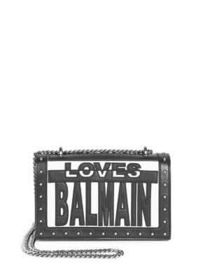 BALMAIN Love Balmain Cutout Bag. #balmain #bags #shoulder bags #leather #