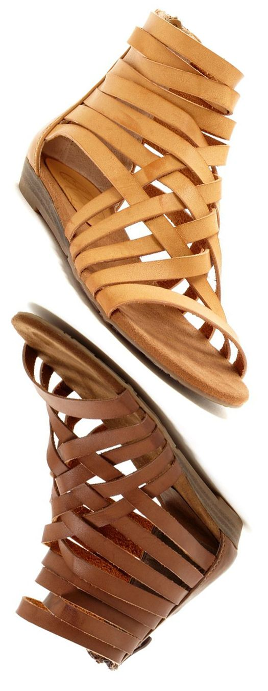 Leather Gladiator Sandals in Tan and Brown 0 LOVE!!!