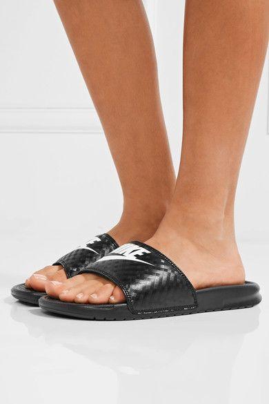 Nike - Benassi Just Do It Rubber Slides - Black - US10