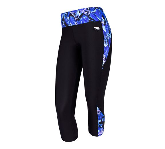 Running Bare's Axis 7/8 Tights with a hint of the gorgeous new Florence print! Shop online today at onsport.com.au - $97.95