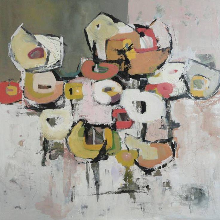 Komposition VIII, a Tempera on Other by Angela Fusenig from Germany. It portrays: Floral, relevant to: tempera, expressionismus, blumen, Leinwand, malerei, Mischtechnik Ich verwende in meinen Bildern die Möglichkeit der Reduktion, das das heißt der Einschränkung auf etwas Einfaches. Durch die Rückführung auf eine einfache sinnliche Wahrnehmung versuche ich Wesentliches sichtbar zu machen.