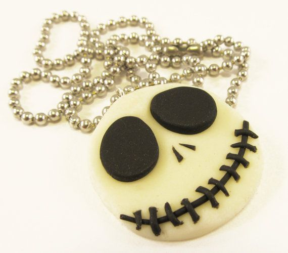 Glow Jack Necklace Nightmare before Christmas by MissEsAccessories, $9.00