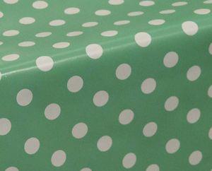 Polka Dots Spots Wipe Clean Tablecloth Oilcloth Vinyl PVC 140cm Wide