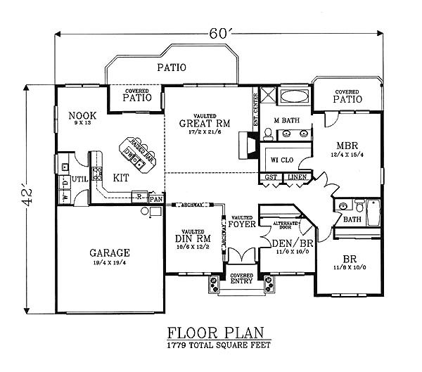 House Plan 46028 Traditional House Plans Home Plans Floor Plans Garage