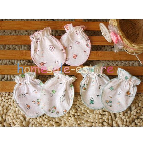 Newborn Baby Boy Girls Infant Soft Cotton Handguard Gloves Anti Scratch Mittens