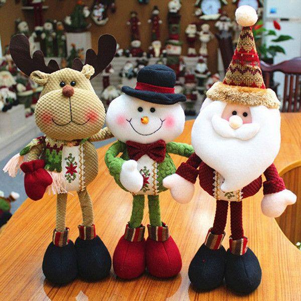 A piece 2015 Lovely Santa Claus Snowman Reindeer Christmas Decoration For Home Indoor Ornament Enfeites De Natal