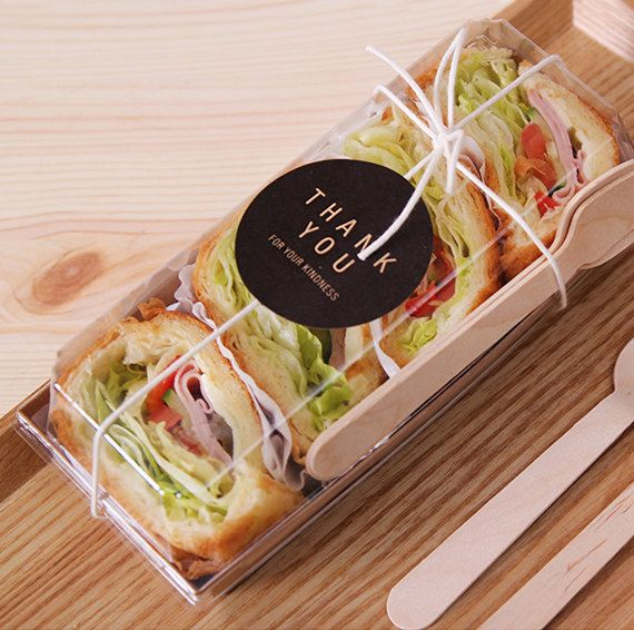 10 x Kraft Food Trays / Brown Paper Long Food by Twomysterybox