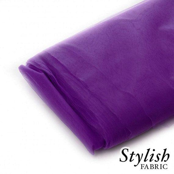 Plum Tulle Fabric Wedding Tulle Fabric Wholesale by StylishFabric, $20.00