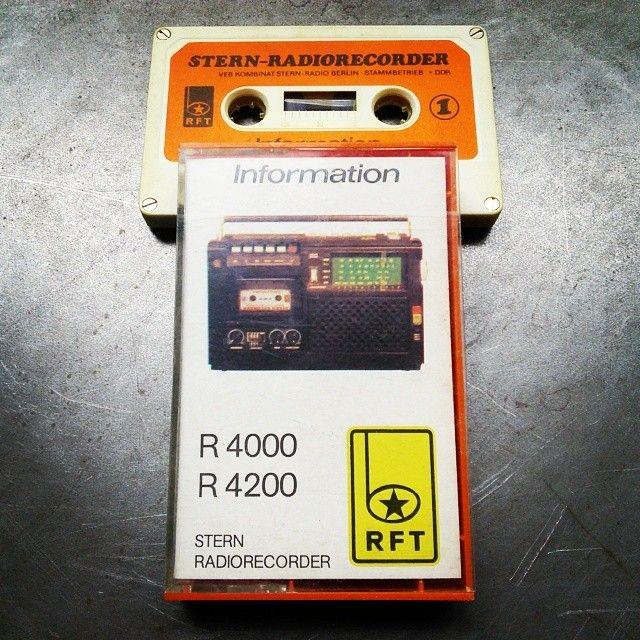 Kassette mit Information rund um den Stern Radiorecorder.