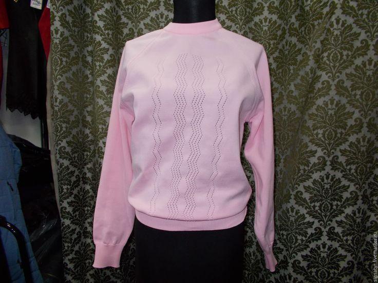 Купить кофточка из 80-х винтаж - розовый, женская кофточка, женский джемпер, классический стиль
