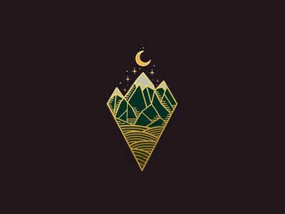 Sternum Triangle Moon and Mountains