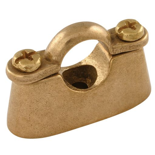 Clamps and Clips - C-Cure Metric Pipe Clips & Back Plates - Hospital, Brass - 69464Pipe Clips - Hospital, Brass