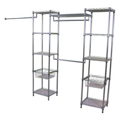Real Organized Lo 15141872zl Metal Deluxe Closet Organizer