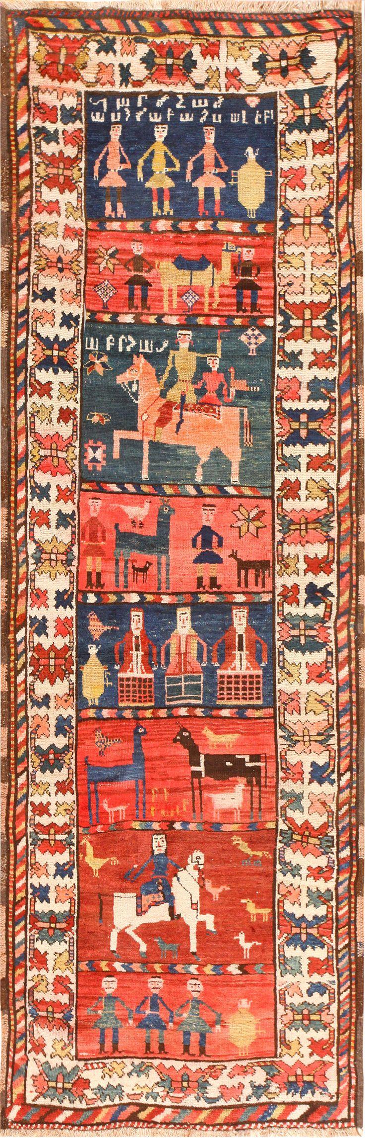 alice horseporn detailed-antique-caucasian-karabagh-runner-rug-48723-detail.