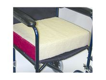 Polyfoam Wheelchair Cushion-Burgundy/Fleece