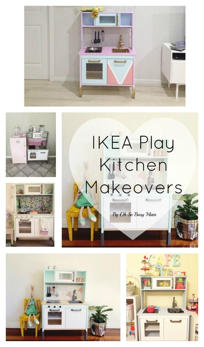 Ikea play kitchen Makeovers using the idea duktig kicthen by Oh So Busy Mum