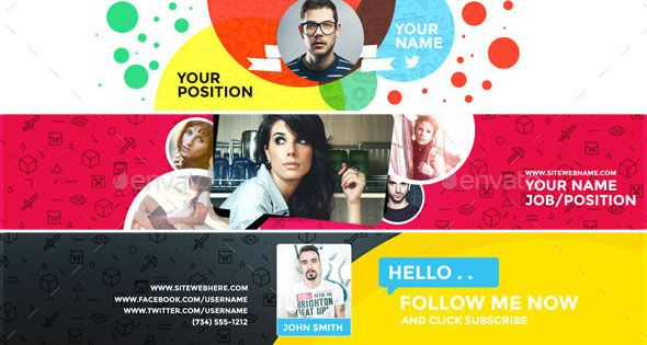 31+PREMIUM & FREE PSD YOUTUBE CHANNEL BANNERS FOR THE BEST