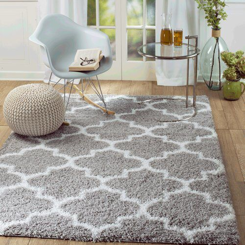 rug and decor inc supreme shag royal trellis gray white area rug rh pinterest com