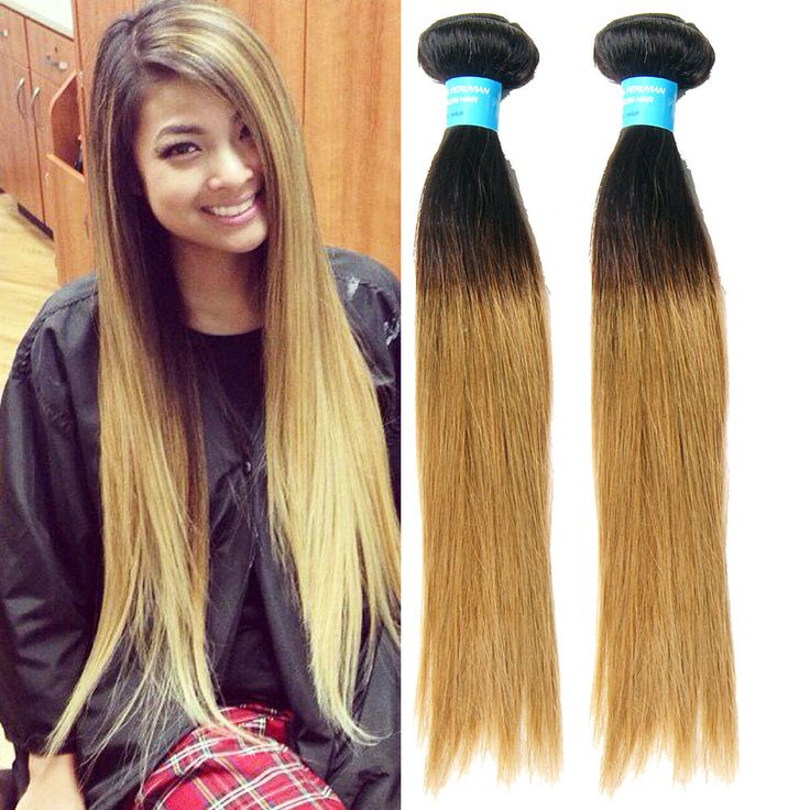 100g/Bundle 1b27# Silky Straight Human Hair Extension Ombre 6A Haar Weave Wefts