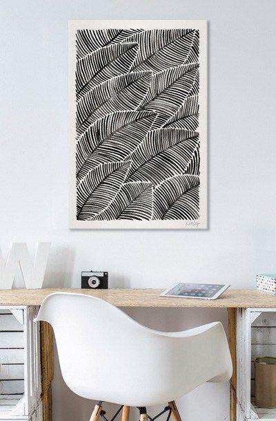 Tropical Palm Leaves – Black Palette