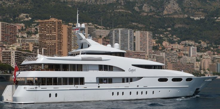 motor yacht Capri, owned by John Caudwell
