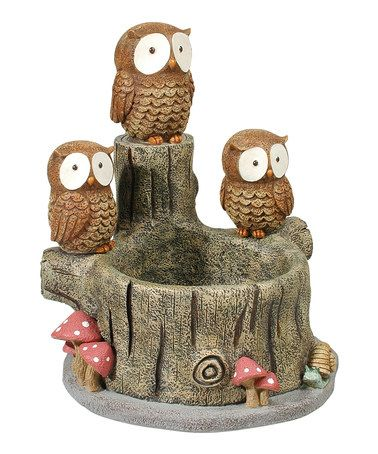 http://www.zulily.com/invite/vhanson979Take a look at this Sitting Owls Planter by Grasslands Road on #zulily today!