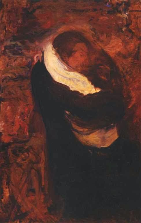 Pocałunek / Kiss, Wojciech Weiss. Polish (1885 - 1950)