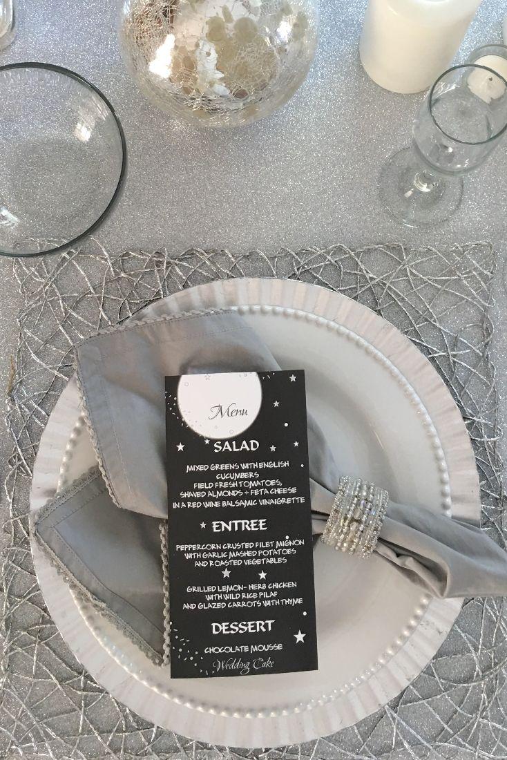 wedding table name card size%0A Moon  u     Stars Menu Card  Celestial WeddingMenu CardsPlace SettingsWedding  ReceptionProject