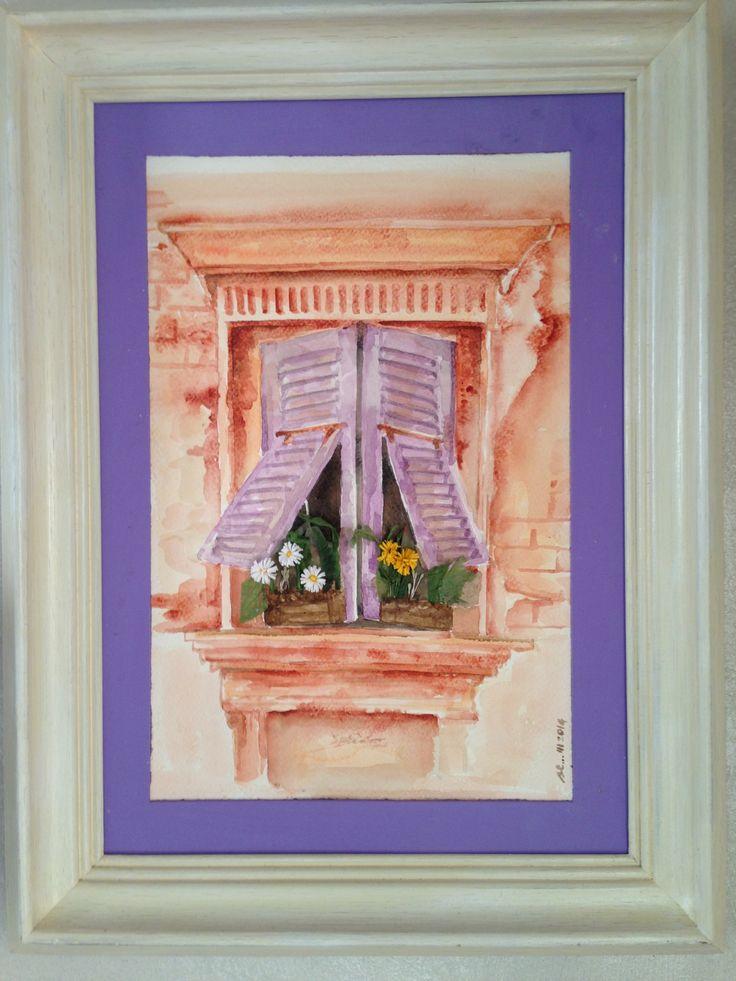 #acquerello con collage di fiori