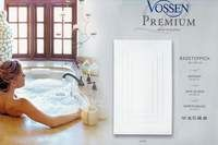 Bade Teppich Frottier VOSSEN 60 x 80 cm weiss Badezimmer