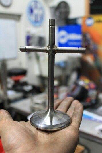 Titanium  top fuel exhaust  valve cross metal art Metalart motorsports racing welding cars metal art