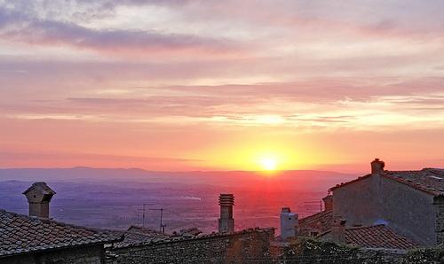 Sun set in Cortona