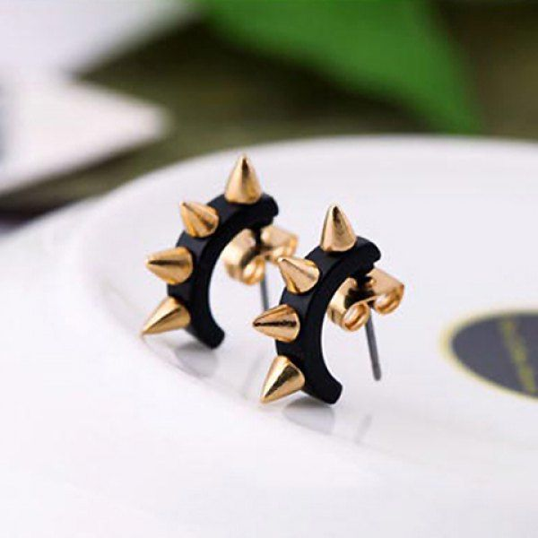 Pair of Punk Retro Style Rivet Embellished Women's Earrings, COLOR ASSORTED in Earrings | DressLily.com
