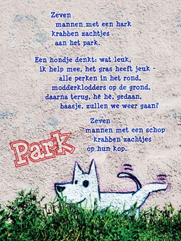 Plint - poëzieposter Park Edward van de Vendel