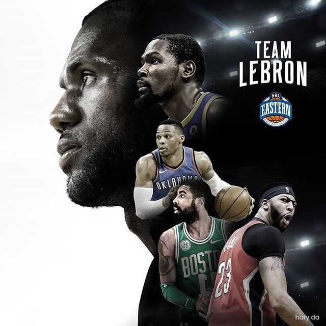 Nbaallstar Tonight Starters For Team Lebron Nbaallstar2018 Allstargame Teamlebr Sports Graphic Design Sports Design Sports Design Inspiration
