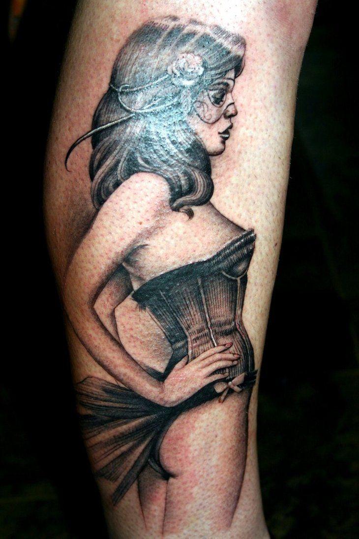 Pin up girl tattoo. need it.