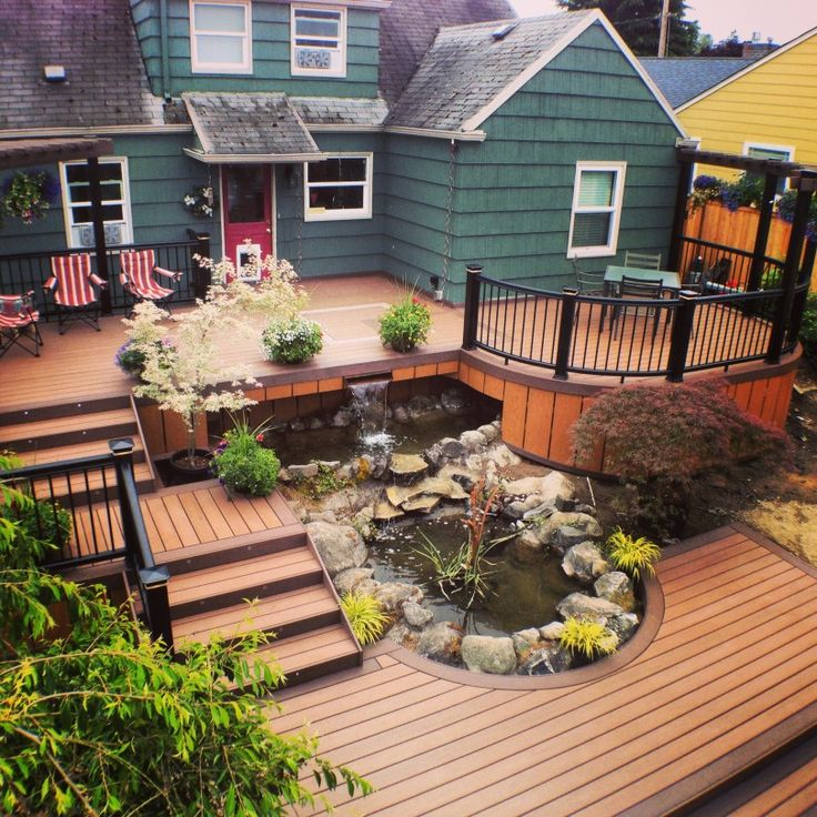 1000 images about multi level deck on pinterest patio for The world deck plans