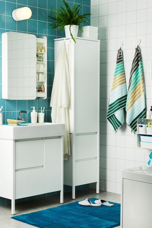 Refresh your bathroom this season! Swap out bathroom textiles like bath mats, towels or shower curtains for spring-inspired colors to welcome the feeling of warmer weather into your home!