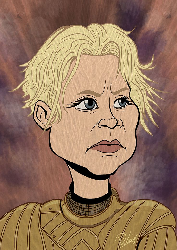 Gwendoline Christie as Brienne of Tarth in #gameofthrones - caricature by Ribosio