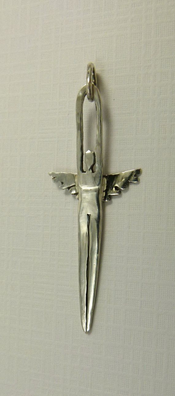 """Cutlery. """"Angel Devyn Reaches For Her Dreams""""- sterling silver fork tine angel pendant by robinwade on Etsy"""