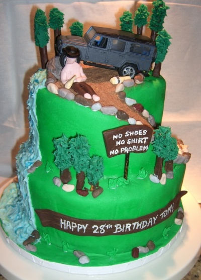 Mountain / Off Roading / Kenny Chesney cake By Vwfiles on CakeCentral.com: