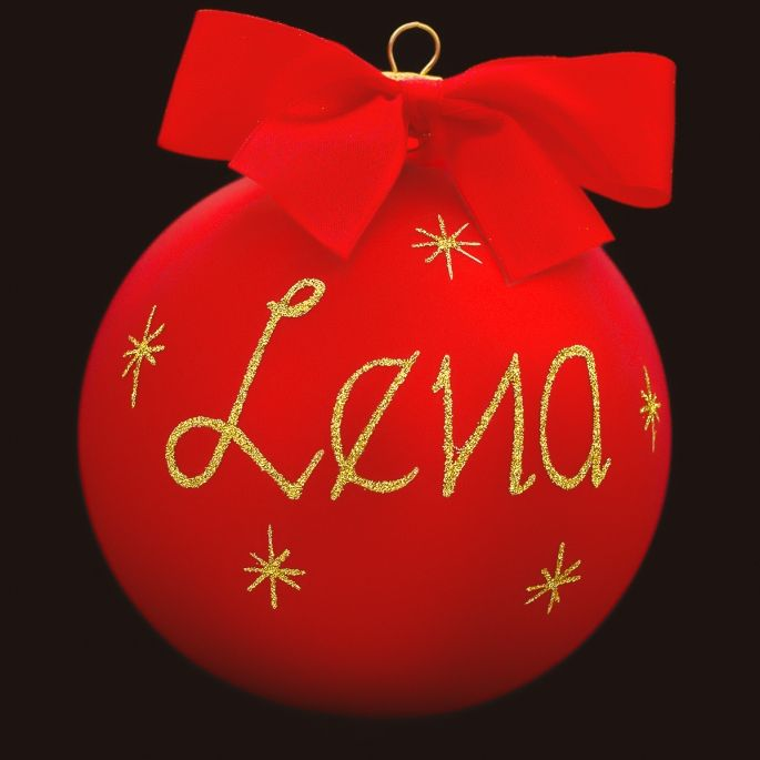 Personalized Glass Christmas Tree Bauble Decorations / Christmas Ball Ornament Decoration